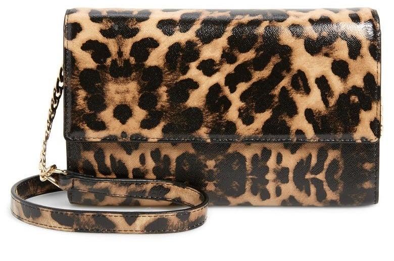 The leopard-print bag