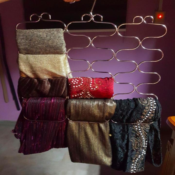 Scarves hanging in loop hanger