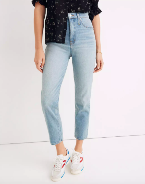 light wash jeans in straight fit