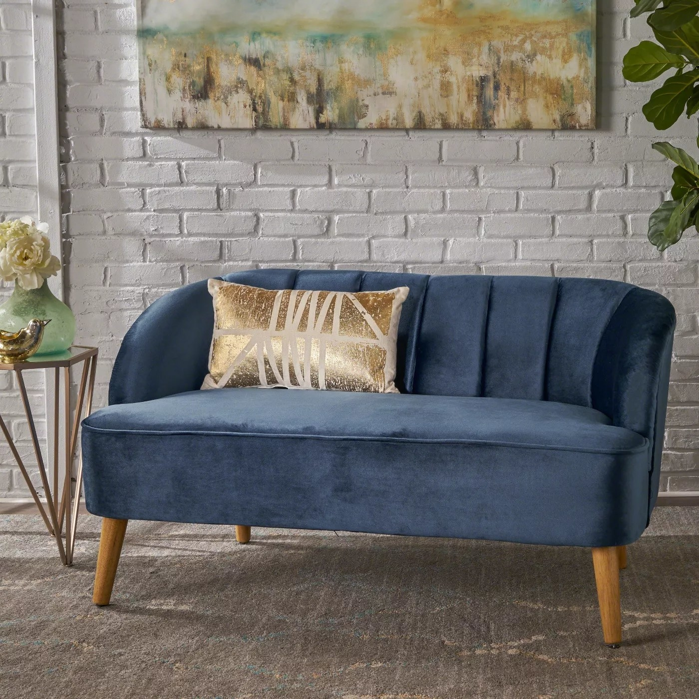 The couch in blue