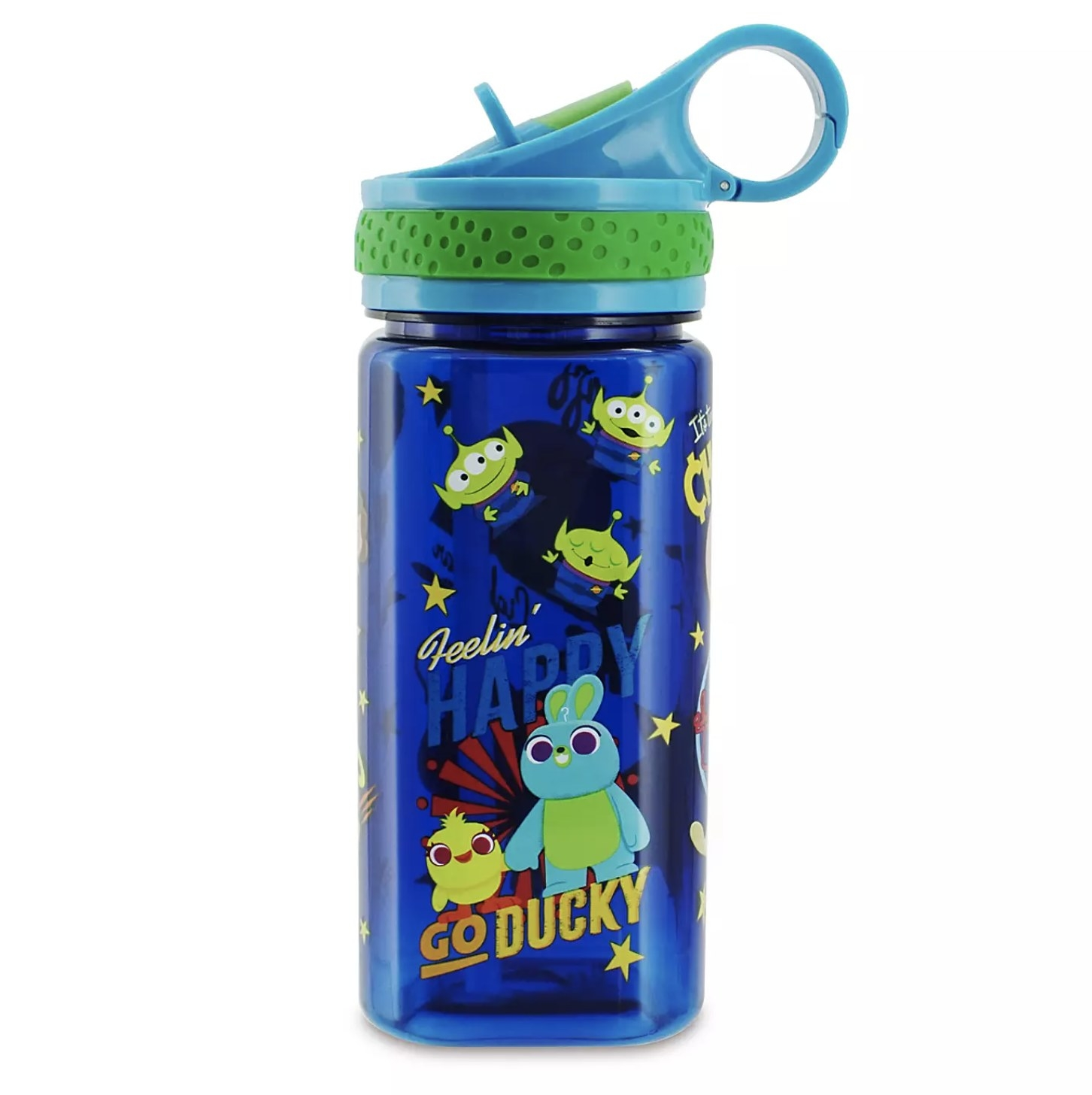 The blue water bottle with Go Ducky on it