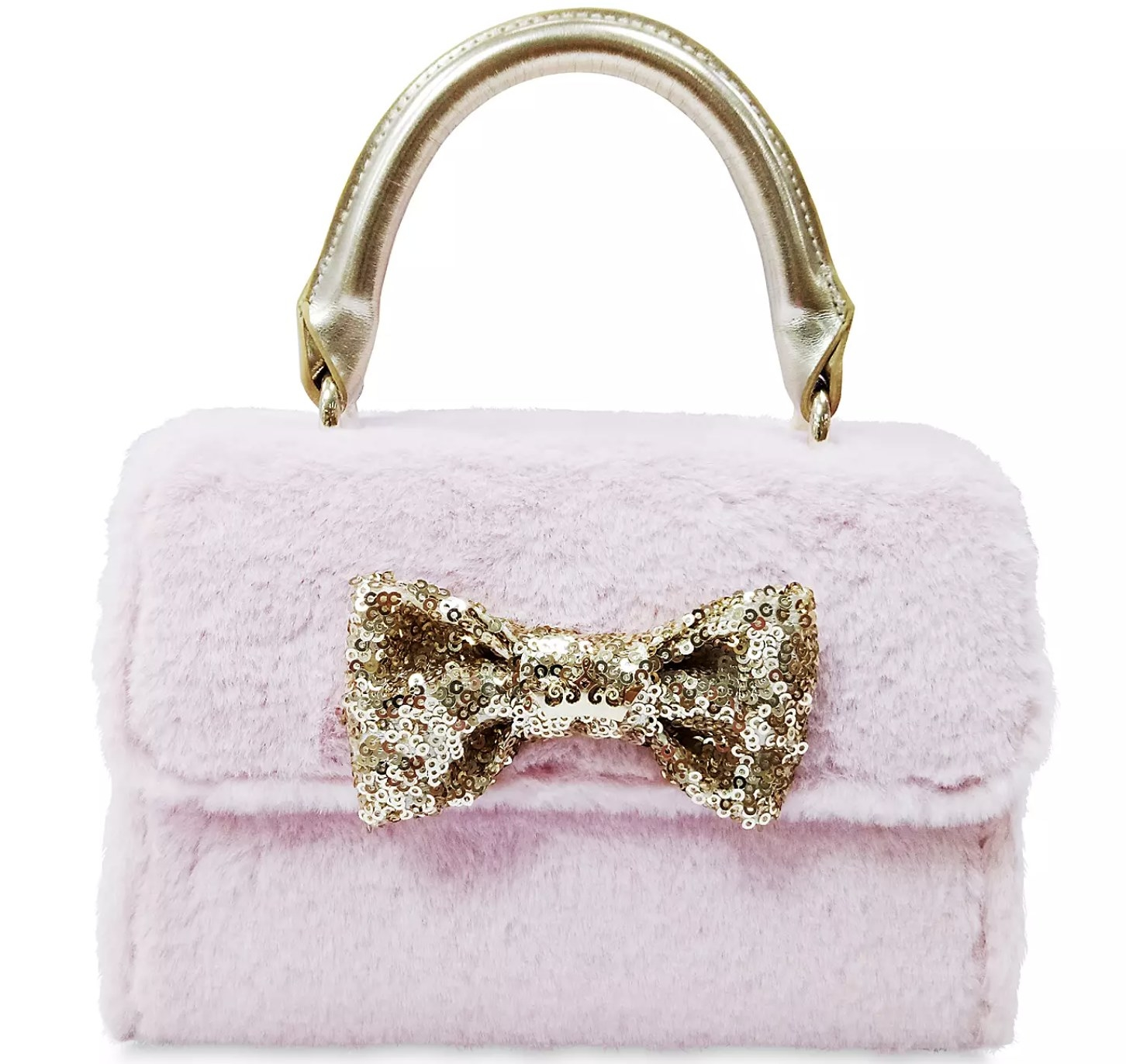 The  pink furry purse