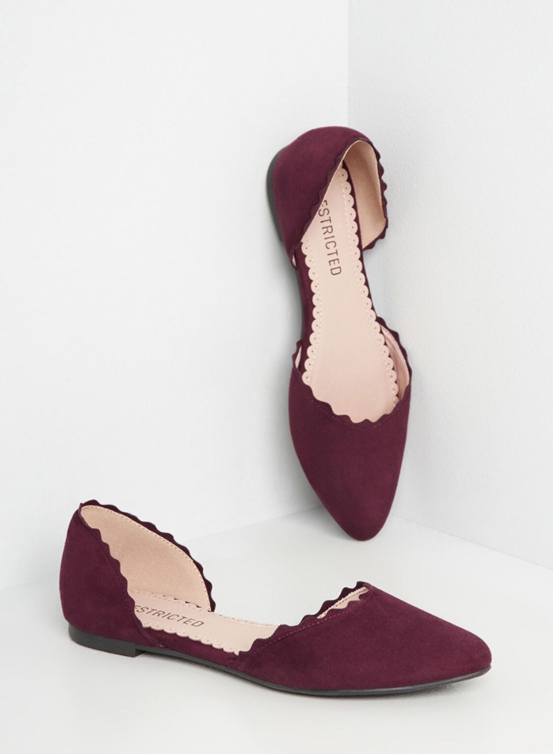 The flats in burgundy