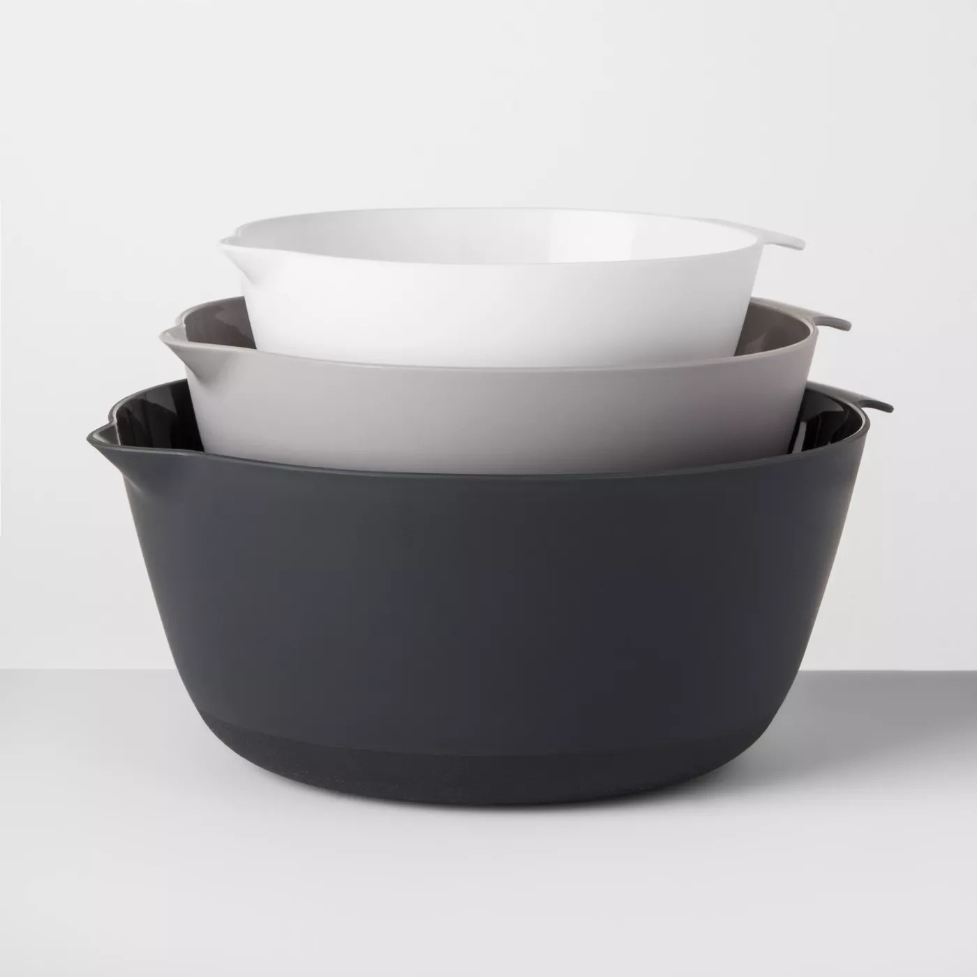 The bowls stacked on top of each other