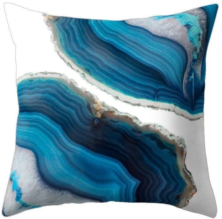 geode print pillow case cover
