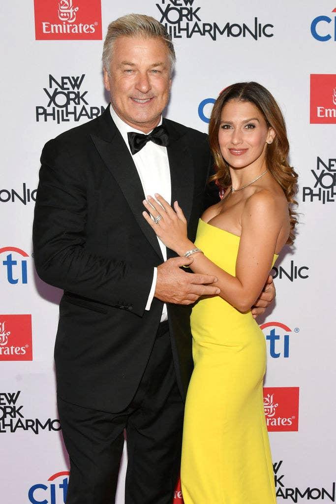 Alec Baldwin and Hilaria Baldwin at an event together