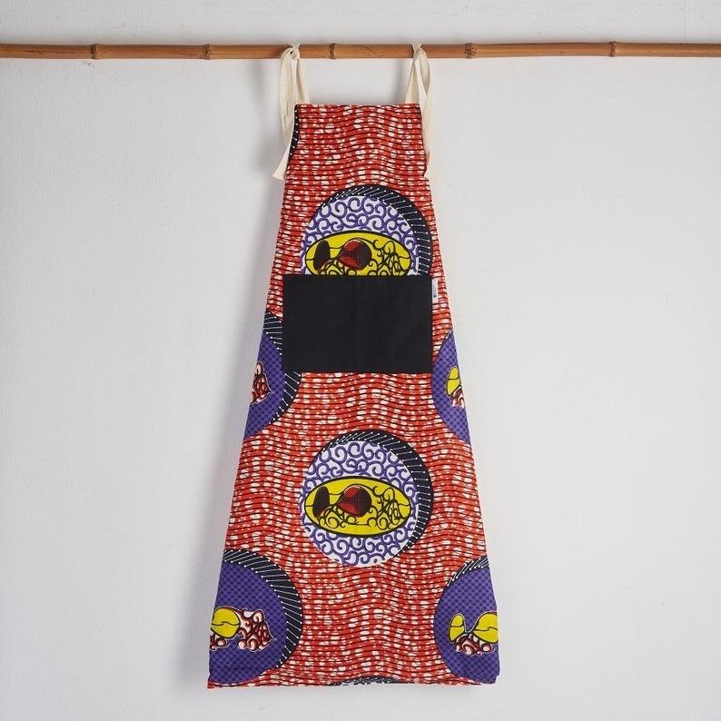 Multicolored red apron