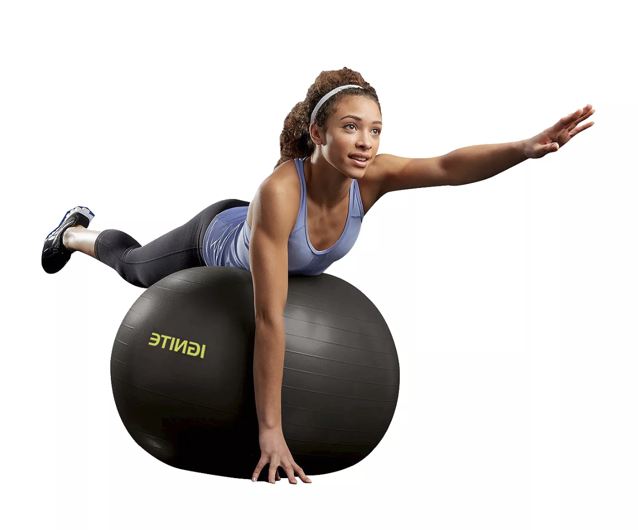 Model balancing on black stability ball