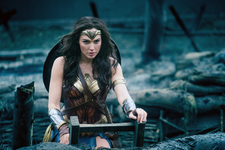 Gal Gadot as Wonder Woman during the No Man's Land scene