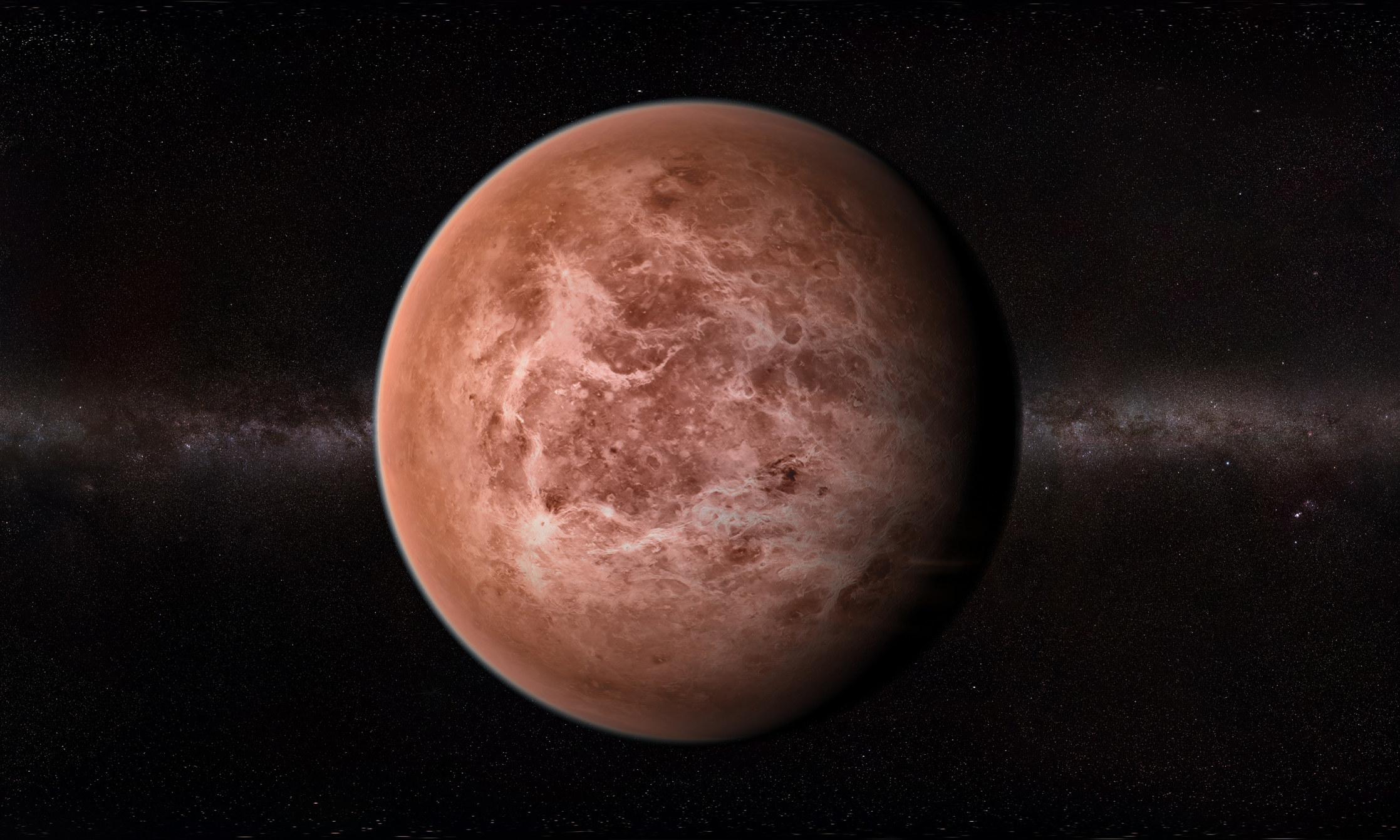 A computer rendering of Venus