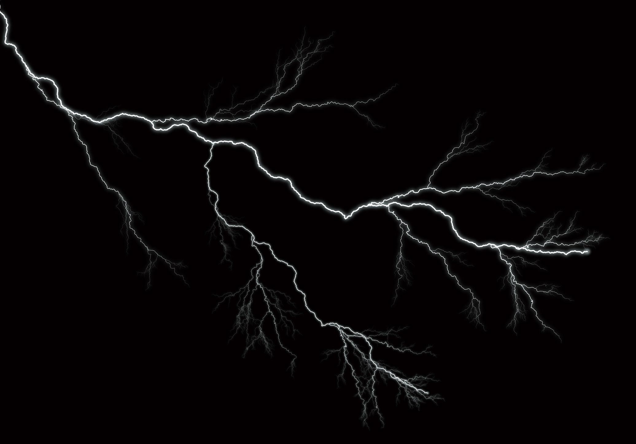 One strike of lightning