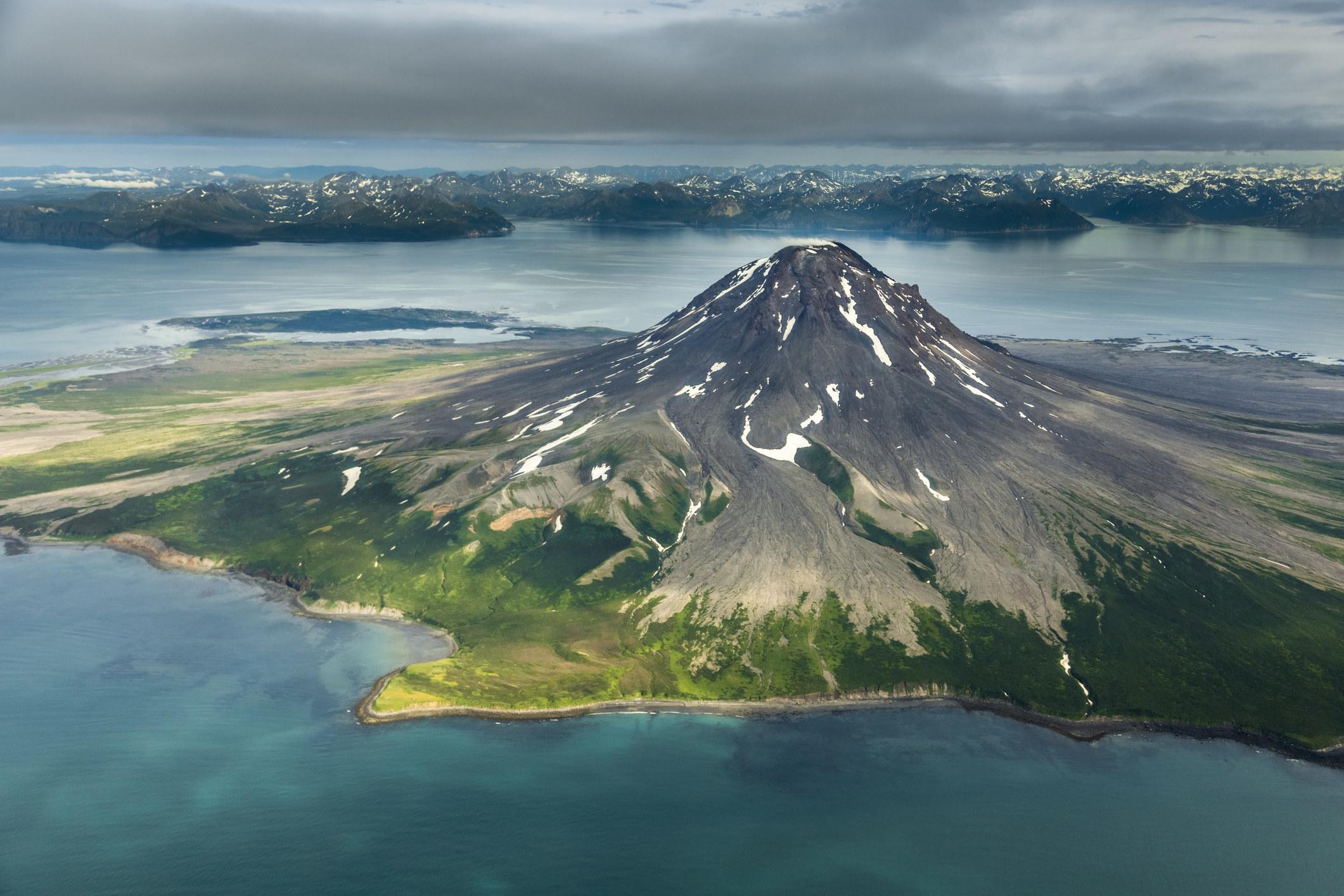 A volcano in Alaska