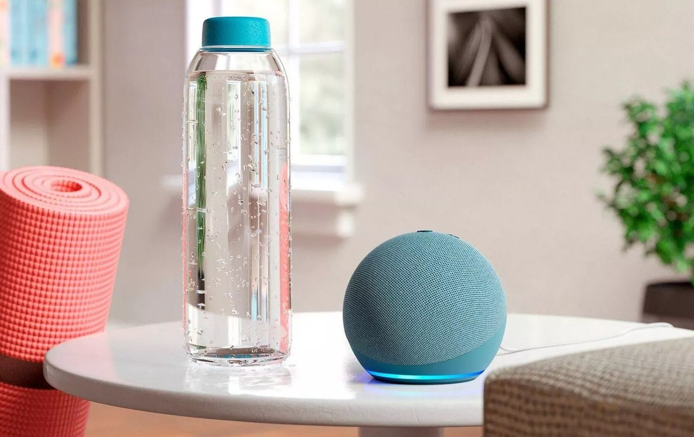 The speaker in blue