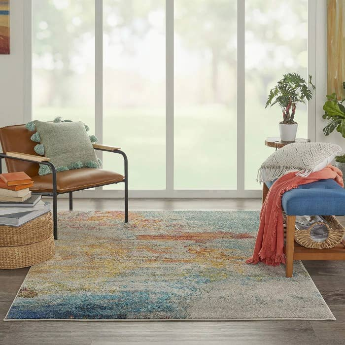 The rug in the sealife color