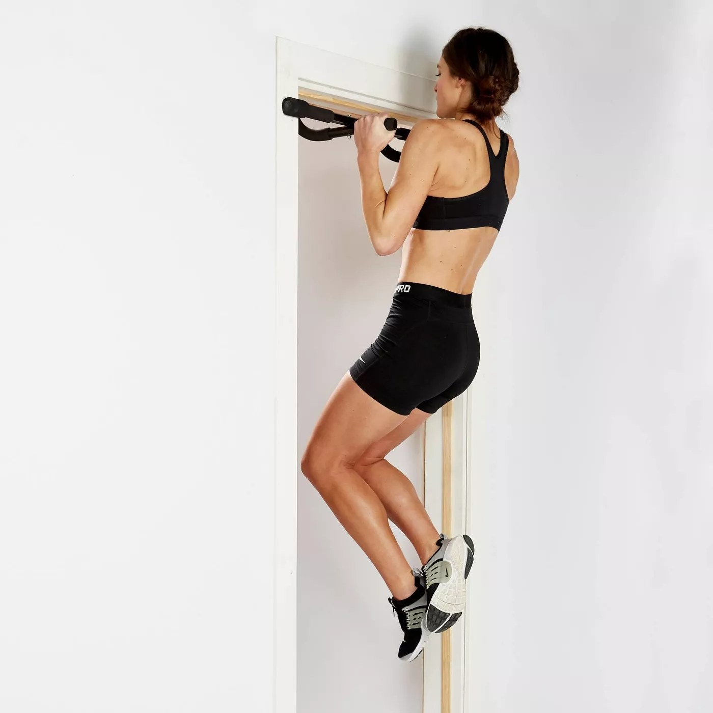A model using the pull-up bar
