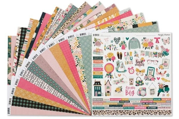 scrap book papers and stickers