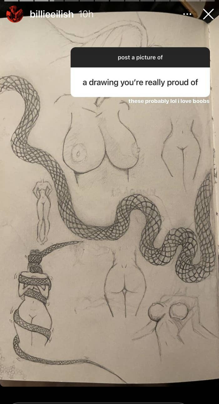 Several small sketches nude women
