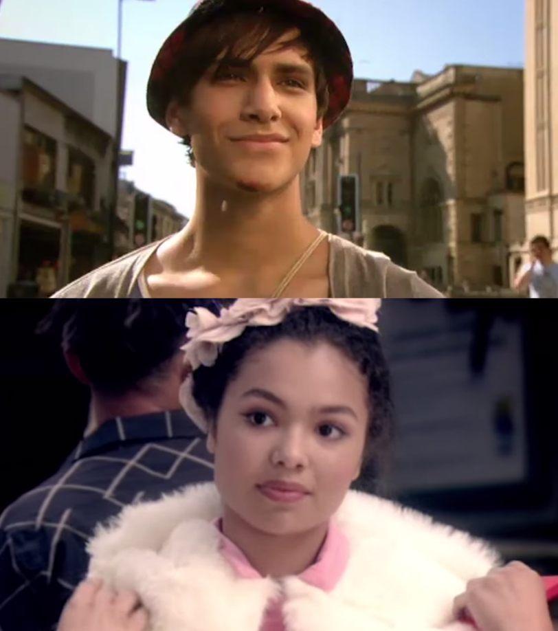 """Luke Pasqualino as Freddie Freddie McClair and Jessica Sula as Grace Blood in the show """"Skins."""""""