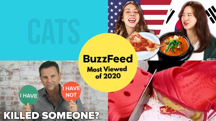 This is a collage of photos from BuzzFeed's most viewed content of 2020.