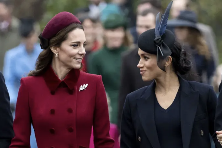 This is a photo of Kate Middleton and Meghan Markle.