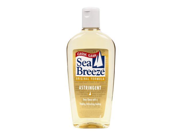 A bottle of Sea Breeze astringent