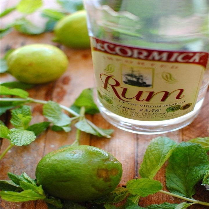 Rum, mint, and limes.