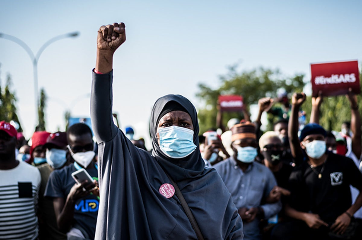 What Protests Against Police Brutality In Nigeria Looked Like