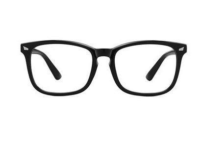 wide, black frames
