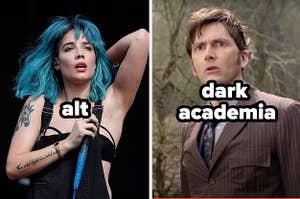 Halsey is alt, the Doctor is dark academia