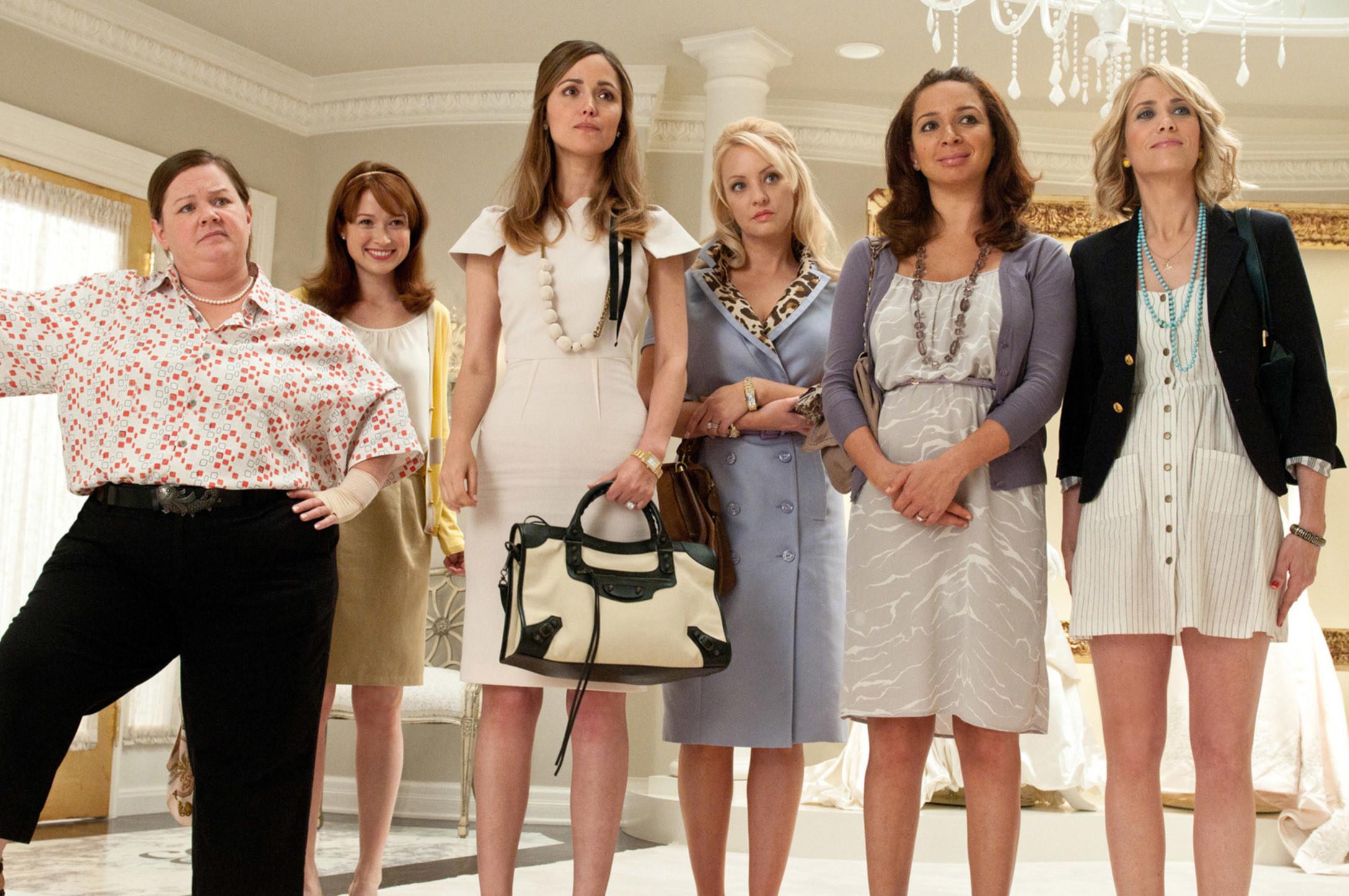 Melissa McCarthy, Ellie Kemper, Rose Byrne, Wendi McLendon-Covey, Maya Rudolph, Kristen Wiig, 2011