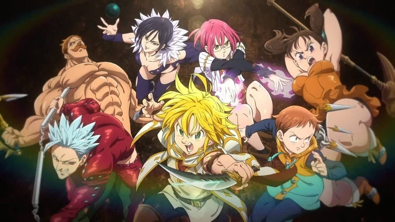 The Seven Deadly Sins characters armed and ready to fight