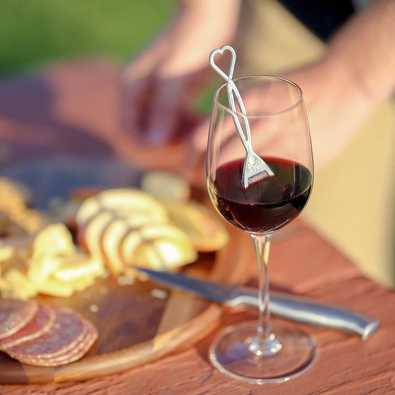 wine stirrer in a glass of wine