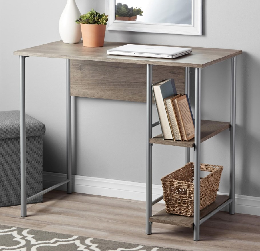 The desk in the color rustic