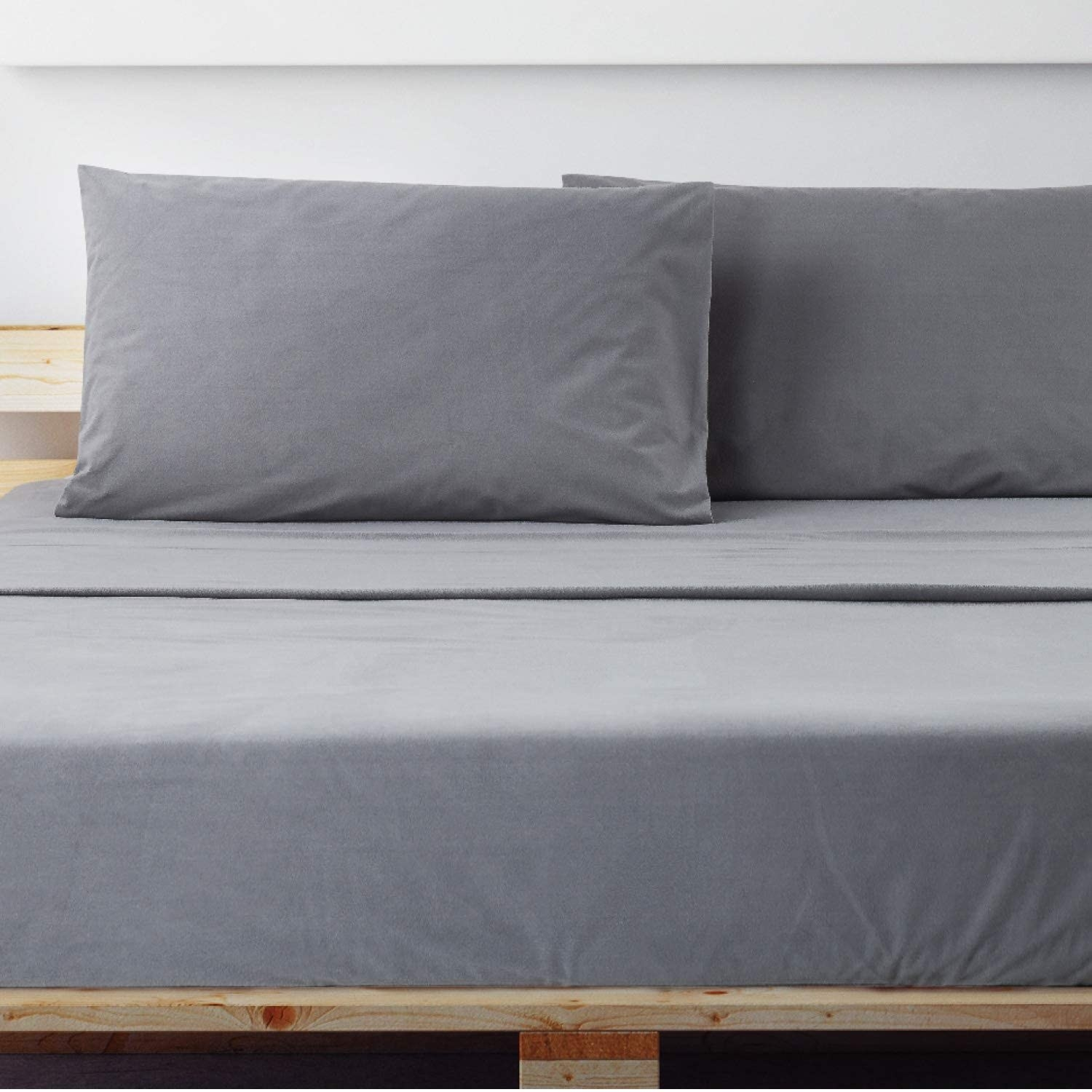A pair of flannel sheets on a bed
