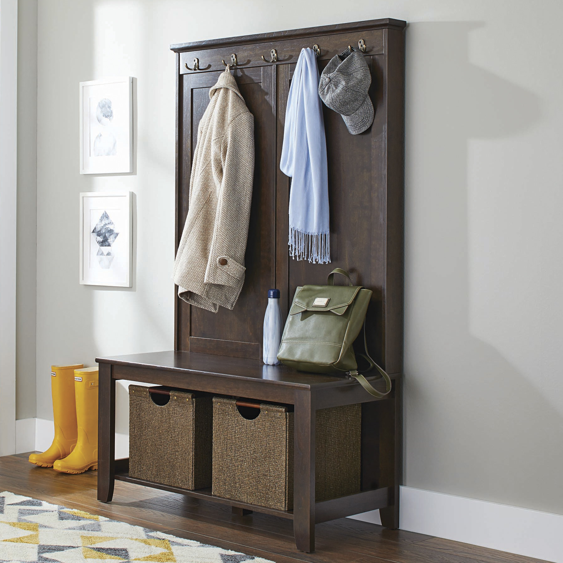 Toffee bench and rack with storage