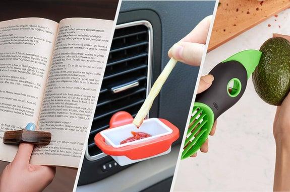 book holder, dip clip, avocado tool