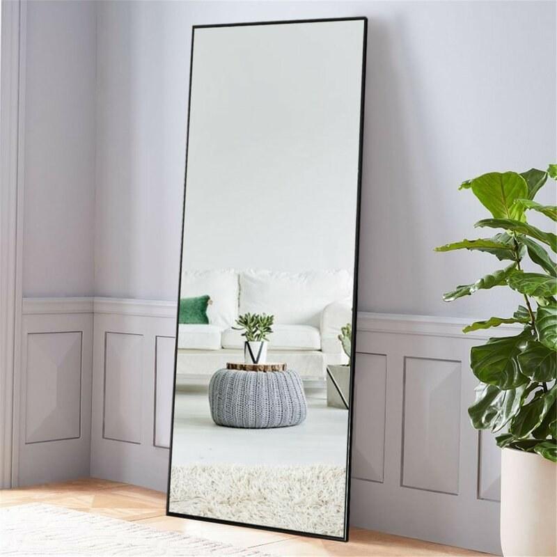 The full-length floor mirror