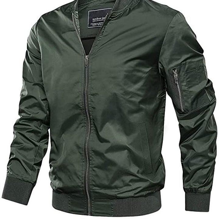 the green bomber jacket