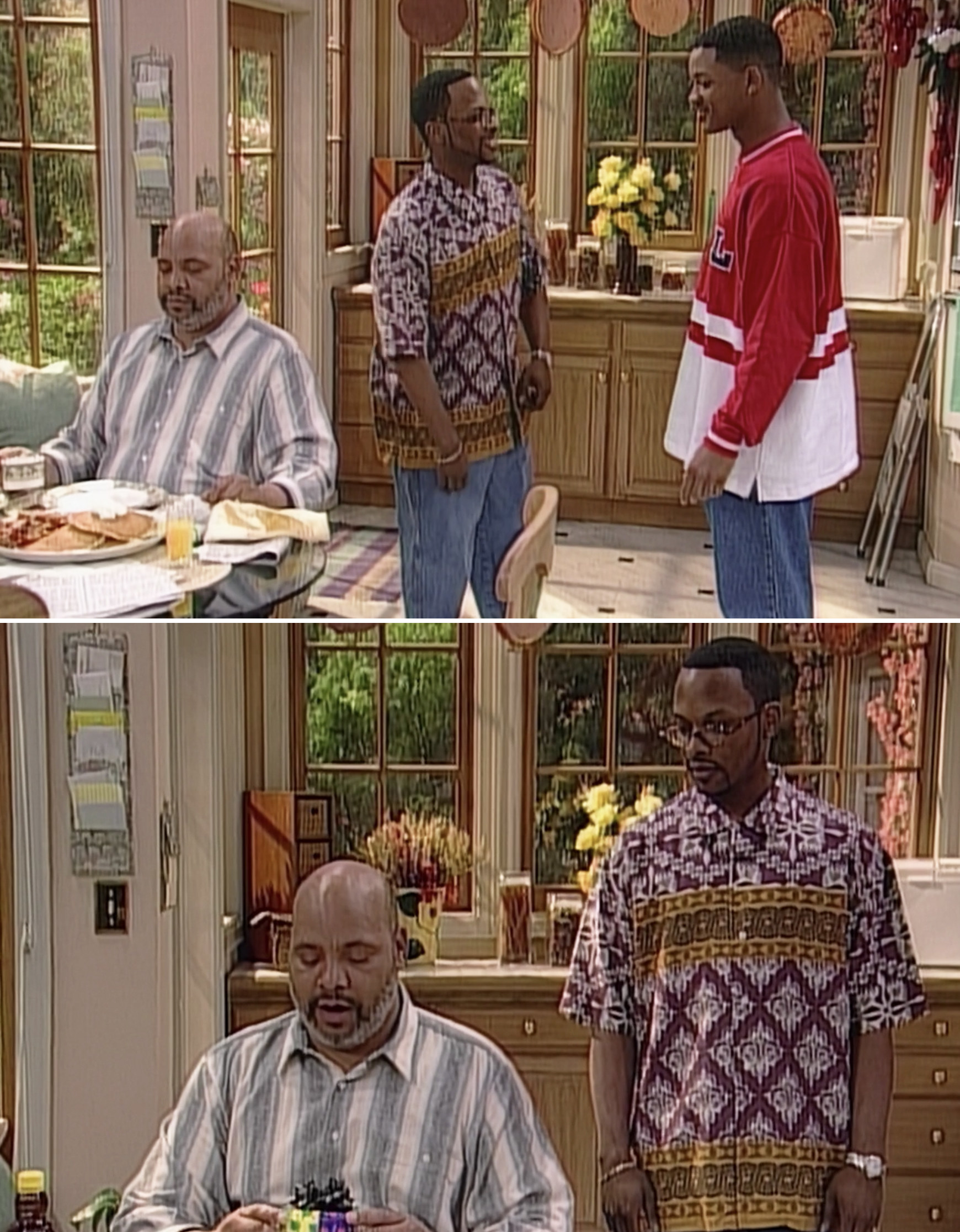 Jazz giving Uncle Phil a birthday present during the series finale