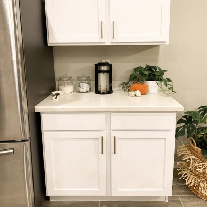 reviewer photo of white cabinets