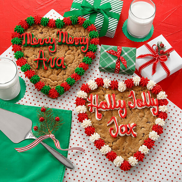 decorated cookie cake