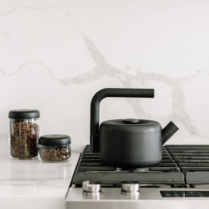Clyde kettle placed on stovetop