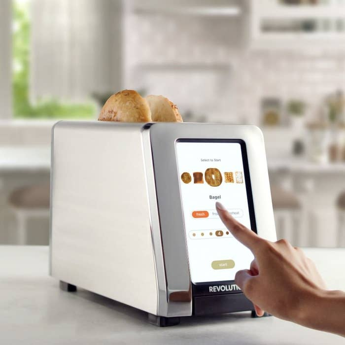Model touching screen on Revolution toaster