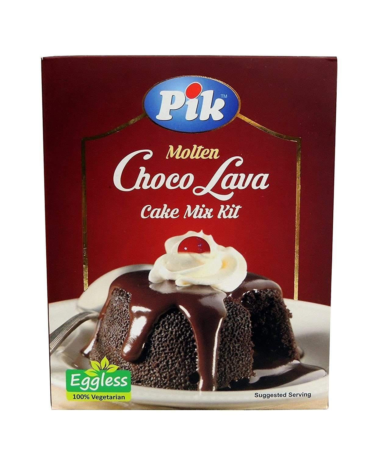 Molten chocolate lava cake box