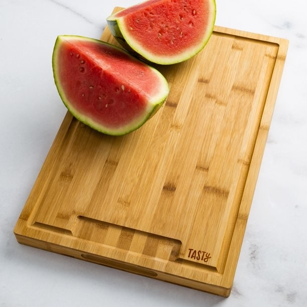 Chopping board with watermelons