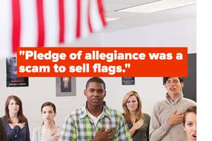 Pledge of allegiance was a scam to sell flags