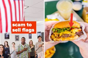 Pledge of allegiance and cheese costing extra