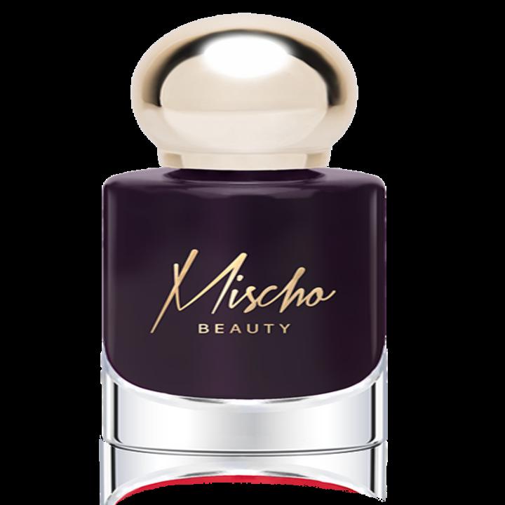 The polish in an eggplant hue