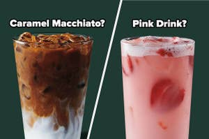 Iced Caramel Macchiato and a Pink Drink