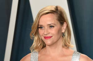 Reese Witherspoon attends 2020 Vanity Fair Oscar Party Hosted By Radhika Jones at Wallis Annenberg Center for the Performing Arts on February 09, 2020 in Beverly Hills, California